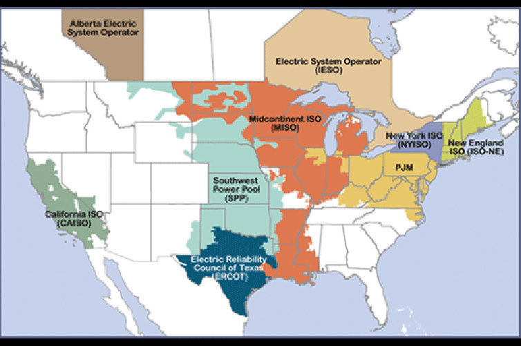 regional transmission organization map courtesy FERC